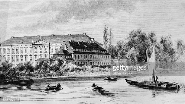 Das Schloss um 1872Nach einer Zeichnung von Theuerkauf undatiert