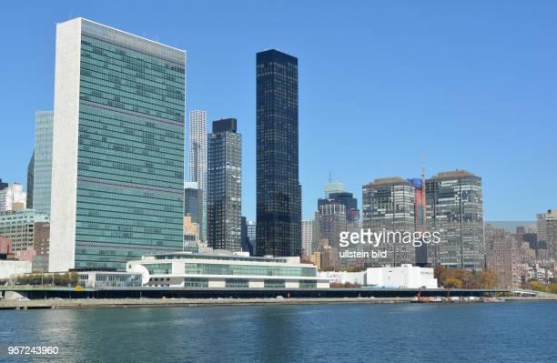 Das UNOHauptquartier am East River gelegen Hier tagt ua die Vollversammlung und der Sicherheitsrat der UNO