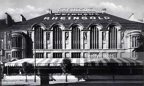 das Weinhaus Rheingold in der Bellevuestrasse 19/20 errichtet von der Aschinger GmbH nach Plänen des Architekten Bruno Schmitz im 2 Weltkrieg...