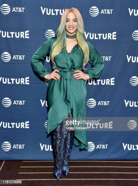 Dascha Polanco arrives at the Vulture Festival Los Angeles 2019 Day 1 at Hollywood Roosevelt Hotel on November 9 2019 in Hollywood California