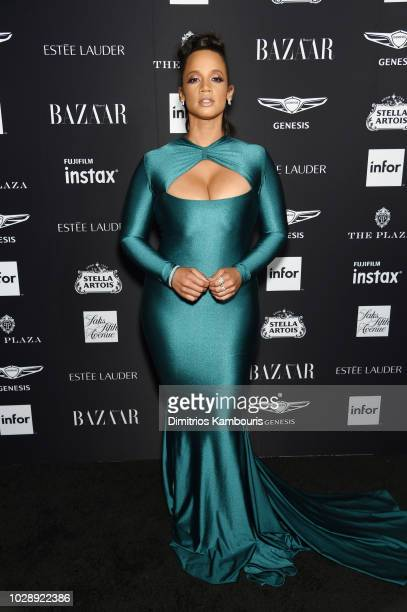 Dascha Polanco attends as Harper's BAZAAR Celebrates ICONS By Carine Roitfeld at the Plaza Hotel on September 7 2018 in New York City