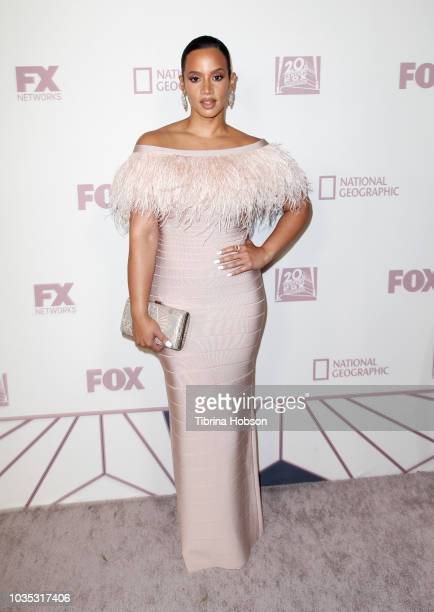 Dascha Polanco attends FOX Broadcasting Company FX National Geographic and 20th Century Fox Television 2018 Emmy Nominee Party at Vibiana on...