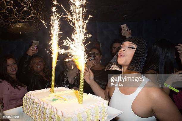 Dascha Polanco attends her surprise birthday party at TAO Downtown on December 3 2015 in New York City