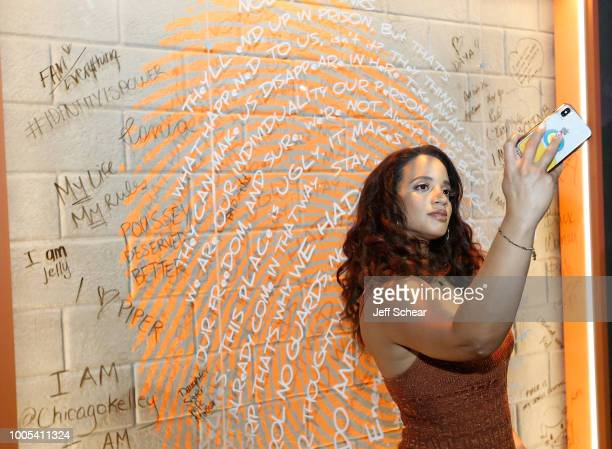 "Dascha Polanco attends ""Refinery29's 29Rooms Turn it Into Art"" on July 25 2018 in Chicago Illinois"