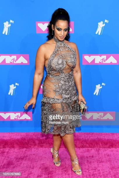 Dascha Polanco attends the 2018 MTV Video Music Awards at Radio City Music Hall on August 20 2018 in New York City