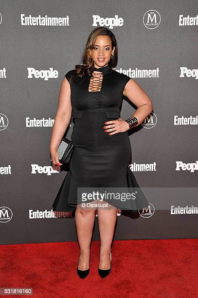 Dascha Polanco attends the Entertainment Weekly and People New York Upfronts Celebration at Cedar Lake on May 16 2016 in New York City