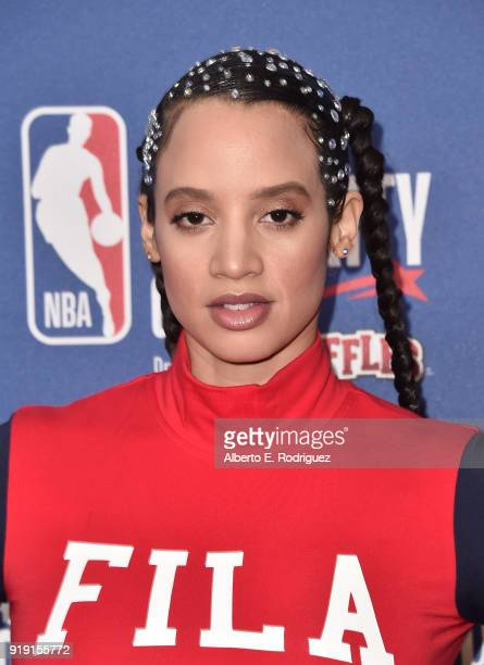Dascha Polanco attends the NBA AllStar Celebrity Game 2018 at Verizon Up Arena at LACC on February 16 2018 in Los Angeles California