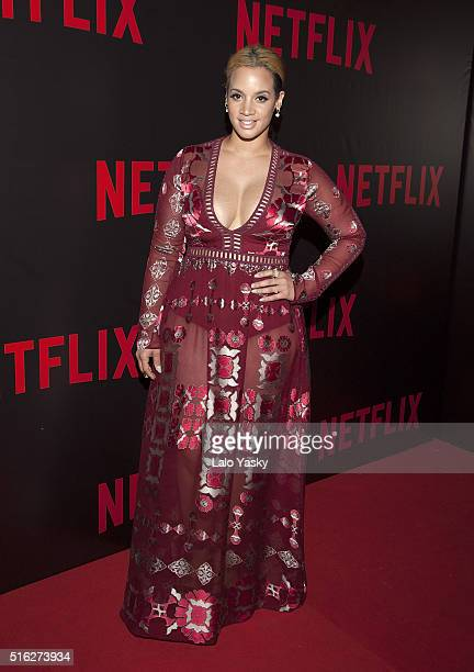 Dascha Polanco attends the 'Netflix Red Carpet' event at the Four Seasons Hotel on March 17 2016 in Buenos Aires Argentina
