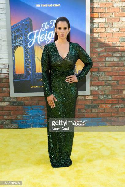 Dascha Polanco attends the opening night premiere of 'In The Heights' during 2021 Tribeca Festival at United Palace Theater on June 09, 2021 in New...