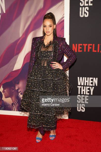 Dascha Polanco attends the World Premiere of When They See Us at The Apollo Theater on May 20 2019 in New York City