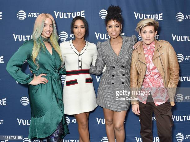 Dascha Polanco Candice Patton Susan Kelechi Watson and Cameron Esposito arrive at the Vulture Festival Los Angeles 2019 Day 1 at Hollywood Roosevelt...