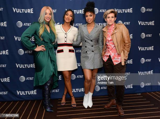 Dascha Polanco, Candice Patton, Susan Kelechi Watson and Cameron Esposito attend Vulture Festival Presented By AT&T at The Roosevelt Hotel on...