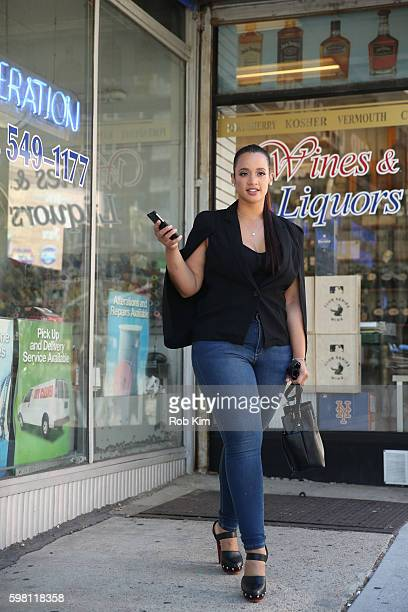Dascha Polanco is seen in JustFab August 23 2016 in New York City