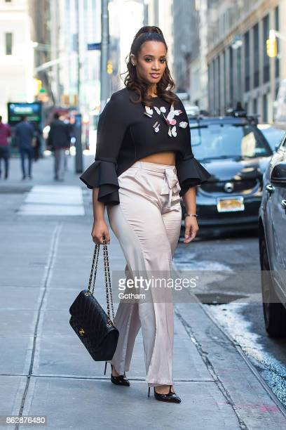 Dascha Polanco is seen in Midtown on October 18 2017 in New York City