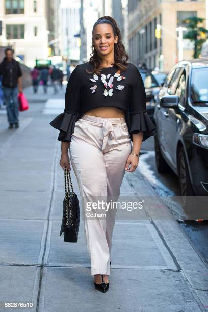 Dascha Polanco is seen in Midtown on October 18 2017 in New York City