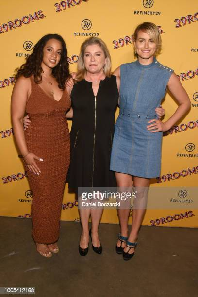 """Dascha Polanco Kate Mulgrew and Taylor Schilling attend """"Refinery29's 29Rooms Turn it Into Art"""" on July 25 2018 in Chicago Illinois"""