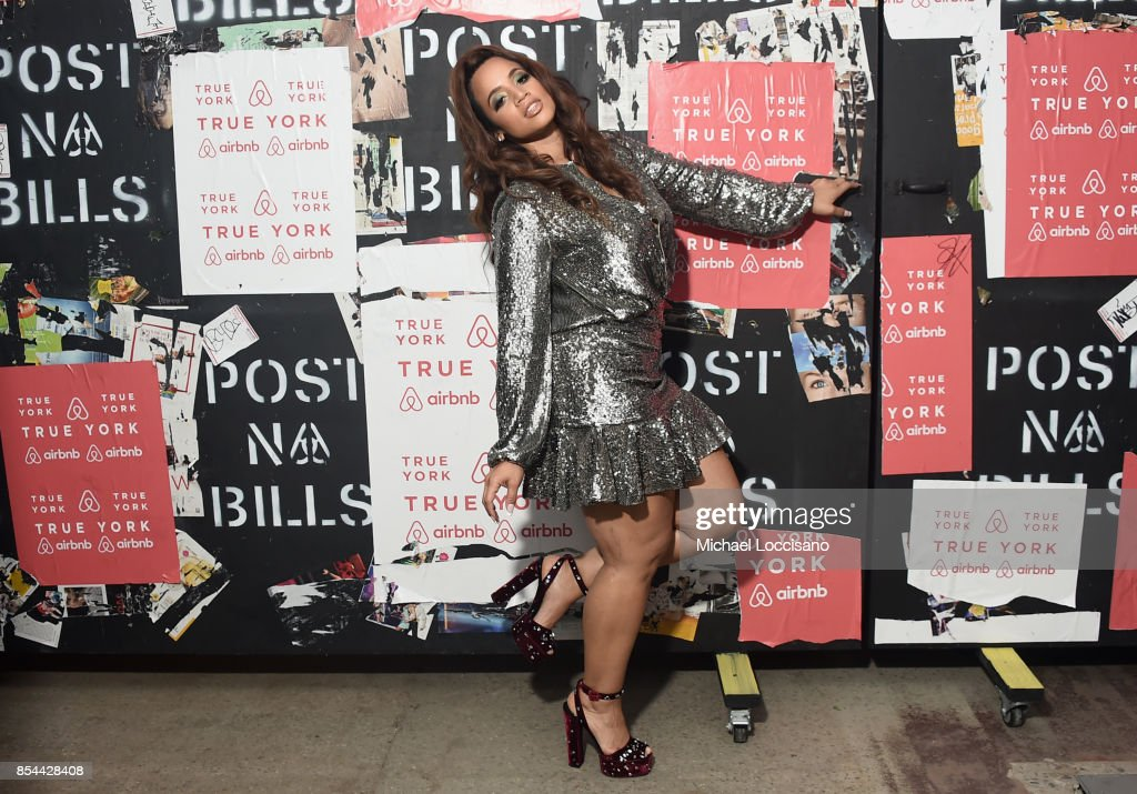 Dascha Polanco poses during Airbnb's New York City Experiences Launch Event on September 26, 2017 in the Brooklyn borough of New York City City.