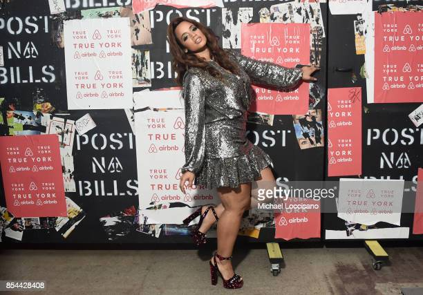 Dascha Polanco poses during Airbnb's New York City Experiences Launch Event on September 26 2017 in the Brooklyn borough of New York City City