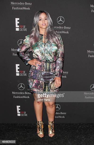 Dascha Polanco seen during MercedesBenz Fashion Week Spring 2015 at Lincoln Center for the Performing Arts on September 6 2014 in New York City