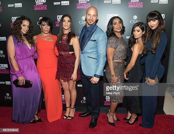 Dascha Polanco Selenis Leyva Laura Gomez Berto Colon Jessica Pimentel Diane Guerrero and Jackie Cruz attend the 2015 Fun Fearless Latina Awards at...
