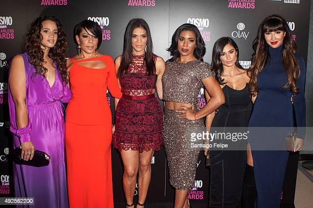 Dascha Polanco Selenis Leyva Laura Gomez Jessica Pimentel Diane Guerrero and Jackie Cruz attend '2015 Fun Fearless Latina Awards' at Hearst Tower on...