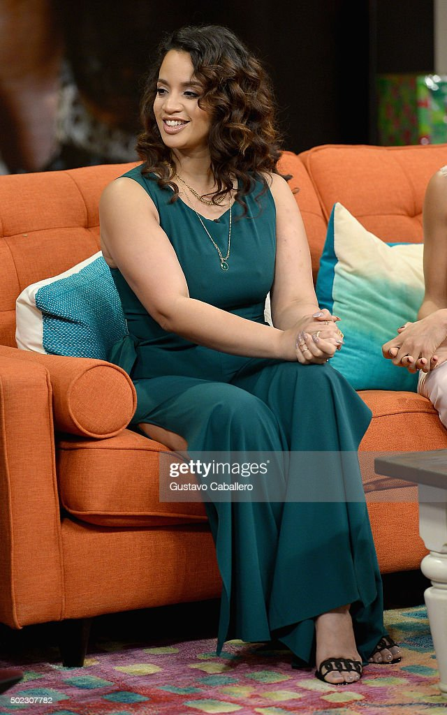 Dascha Polanco visits the set of Univision's 'Despierta America' at Univision Studios on December 22, 2015 in Miami, Florida.