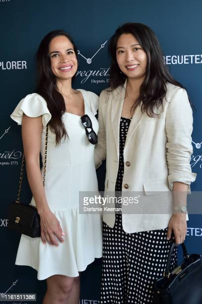 Dascia Butller and Nancy Lewis attend Breguet Marine Collection Launch at Little Beach House Malibu on July 11 2019 in Malibu California