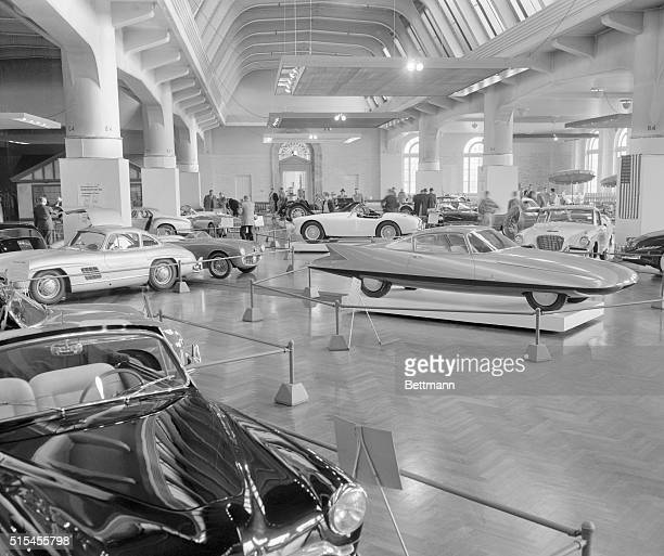 """Dash, in speed and style, is the keynote of the fourth annual """"Sports Cars in Review"""" exhibit at the Henry Ford Museum in Dearborn, Michigan...."""