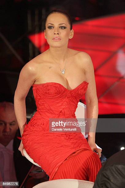 Dasha Astafieva attends the fourth evening of the 59th San Remo Song Festival at Ariston Theatre on February 20 2009 in San Remo Italy