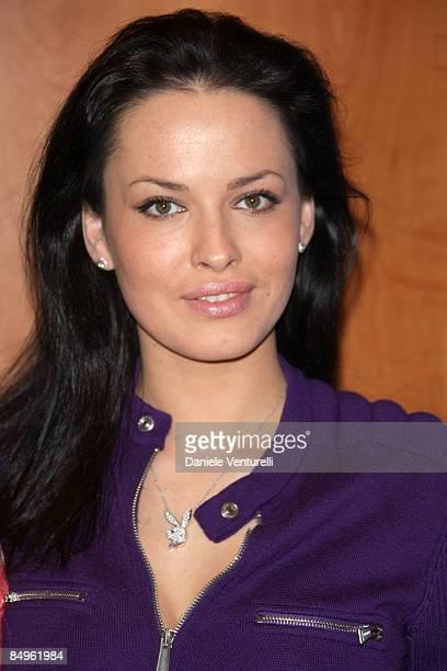 Dasha Astafieva attends the Hugh Hefner and Playboy Bunnies Photocall on February 21 2009 in Monte Carlo Monaco