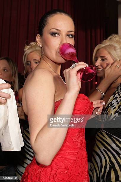 Dasha Astafieva attends the Playboy party at the Morgana restaurant on the fourth day of the 59th San Remo Song Festival on February 20 2009 in San...