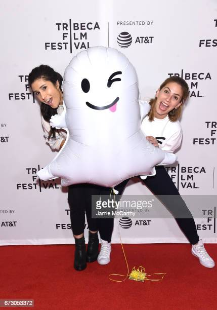 Dasha Battelle and Ani Acopian of New Look attend Tribeca Snapchat Shorts showing during 2017 Tribeca Film Festival at Cinepolis Chelsea on April 25...