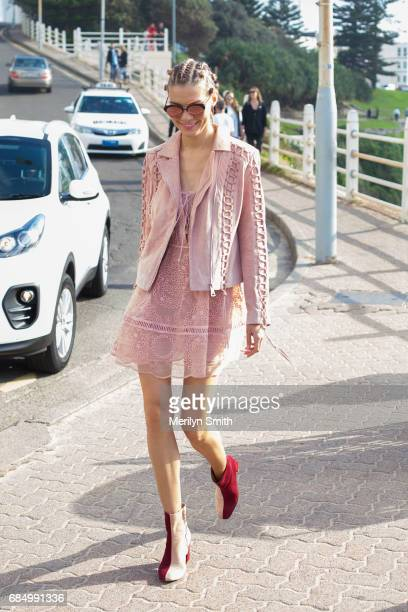 Dasha Gold during MercedesBenz Fashion Week Resort 18 Collections at Carriageworks on May 18 2017 in Sydney Australia