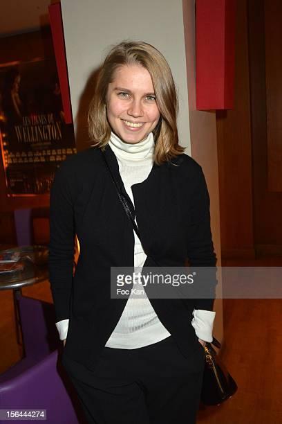 Dasha Melnikova actress of 'Stalna•a Babotchka' attends 'Le Chef D'Orchestre' Paris Premiere as Part of 'Regards de Russie' at the Cinema Arlequin on...