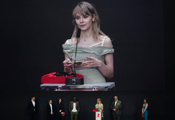 "DEU: Award Ceremony And ""Babardeală Cu Bucluc Sau Porno Balamuc"" (Bad Luck Banging Or Loony Porn) Premiere - 71st Berlinale International Film Festival Summer Special"