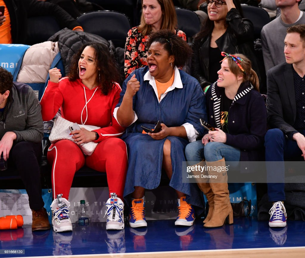 Celebrities Attend The New York Knicks Vs Dallas Mavericks Game : News Photo