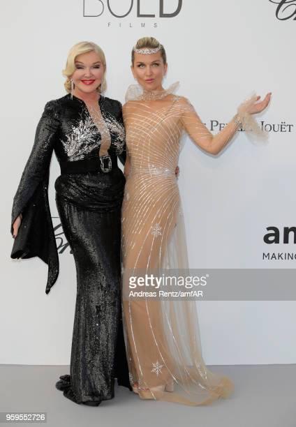 Dasha Yanina and Yulia Yanina arrive at the amfAR Gala Cannes 2018 at Hotel du CapEdenRoc on May 17 2018 in Cap d'Antibes France