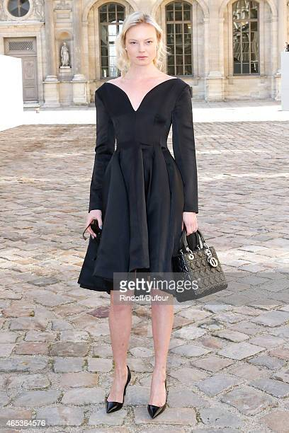 Dasha Zharova attends the Christian Dior show as part of the Paris Fashion Week Womenswear Fall/Winter 2015/2016 on March 6 2015 in Paris France
