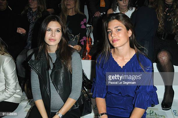 Dasha Zhukova and Charlotte Casiraghi attend the Stella McCartney Pret a Porter show as part of the Paris Womenswear Fashion Week Spring/Summer 2010...