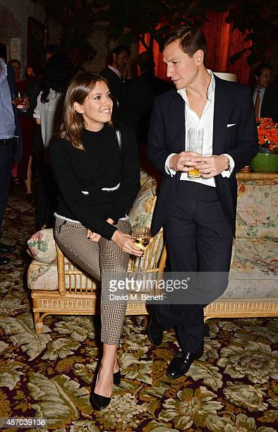Dasha Zhukova and Dave Clark attend the book launch party for How Google Works by Eric Schmidt and Jonathan Rosenberg hosted by Jamie Reuben at The...