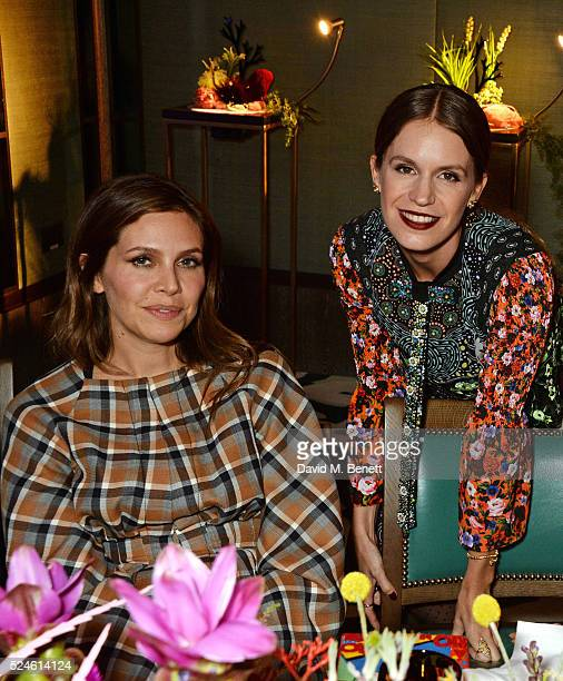 Dasha Zhukova and Eugenie Niarchos attend the launch of the new Venyx Oseanyx collection hosted by Eugenie Niarchos and Lucy Yeomans at Sexy Fish on...