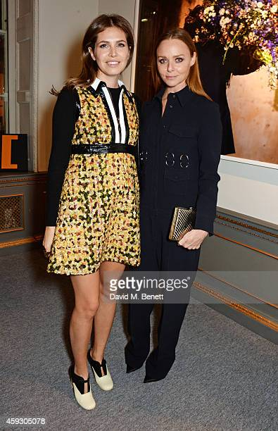 Dasha Zhukova and Stella McCartney attend the book launch and private view of 'Mary McCartney Monochrome And Colour' curated by De Pury De Pury on...