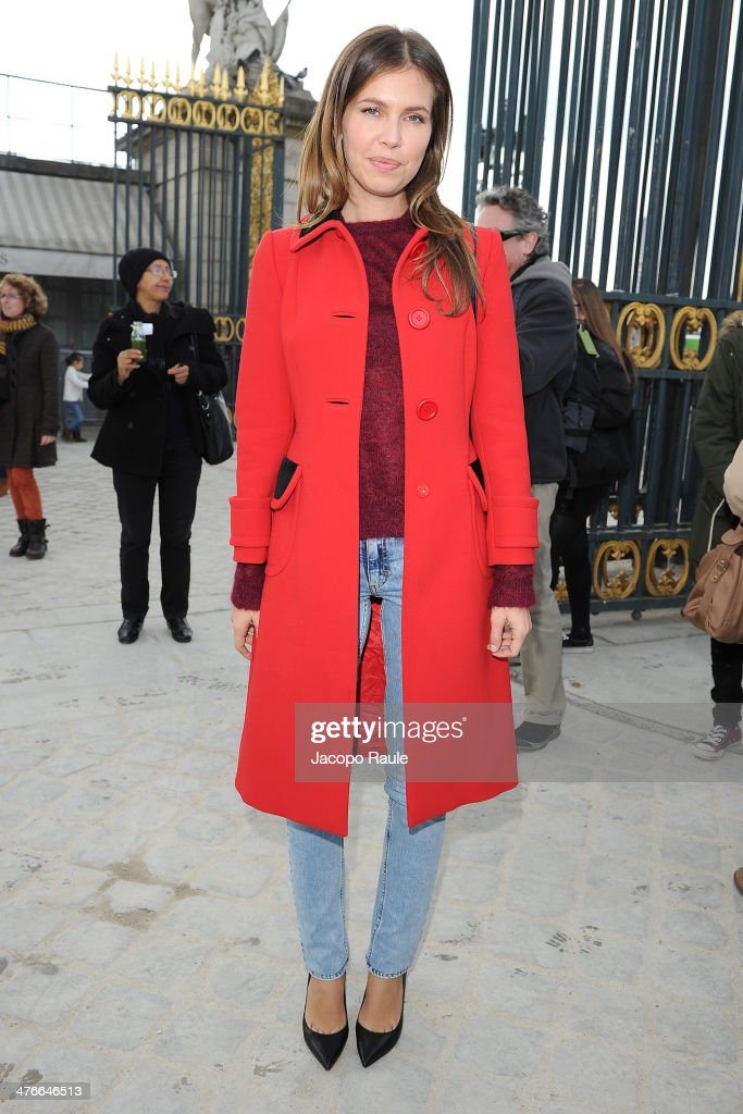 Dasha Zhukova arrives at the Valentino show as part of the Paris Fashion Week Womenswear Fall/Winter 2014-2015 on March 4, 2014 in Paris, France.