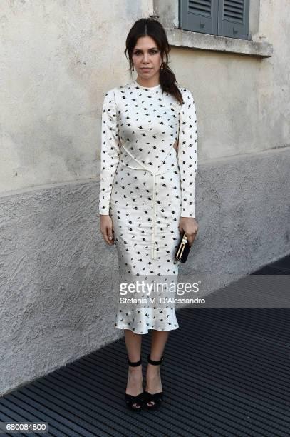 Dasha Zhukova attends a 'Private view of 'TV 70 Francesco Vezzoli Guarda La Rai' at Fondazione Prada on May 7 2017 in Milan Italy