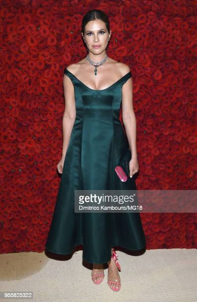 Dasha Zhukova attends the Heavenly Bodies Fashion The Catholic Imagination Costume Institute Gala at The Metropolitan Museum of Art on May 7 2018 in...