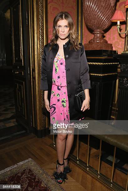 Dasha Zhukova attends The Miu Miu Club And Croisiere 2017 Collection Presentation at Hotel De La Paiva on July 3 2016 in Paris France