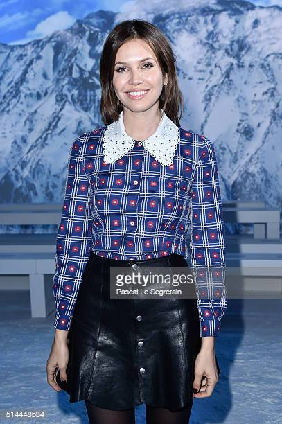 Dasha Zhukova attends the Moncler Gamme Rouge show as part of the Paris Fashion Week Womenswear Spring/Summer 2016 at Grand Palais on March 9 2016 in...