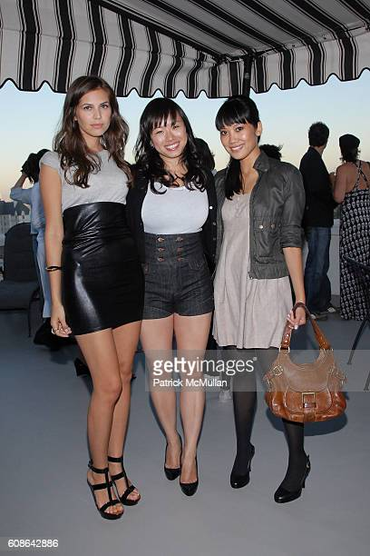 Dasha Zhukova Christina Tang and Melissa Magsaysay attend Kova and T Hosts Private Dinner and Cocktails at the Chateau Marmont at Chateau Marmont on...