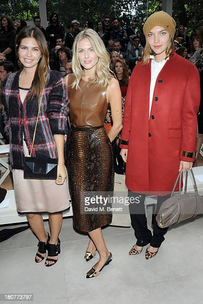Dasha Zhukova Donna Air and Arizona Muse attend the front row at Burberry Prorsum Womenswear Spring/Summer 2014 show during London Fashion Week at...