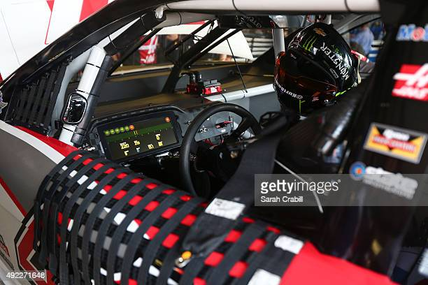 Dashboard is seen during practice for the NASCAR Sprint Cup Series Bojangles' Southern 500 at Darlington Raceway on September 4 2015 in Darlington...